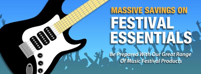 Massive Savings On Festival Essentials